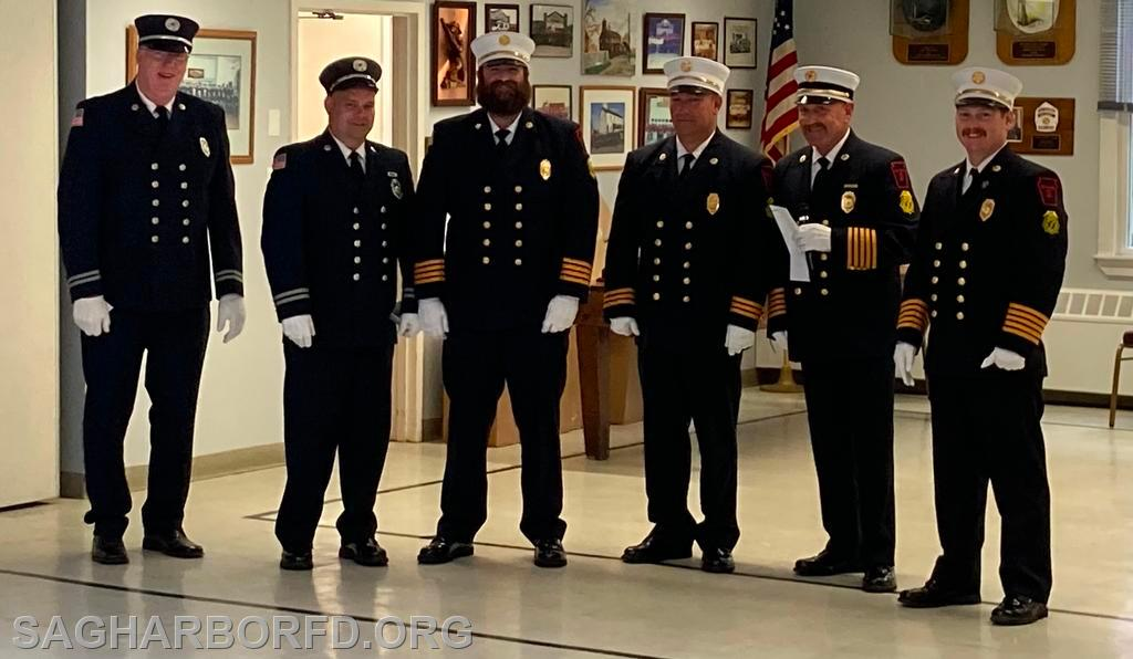 20 Years of Service Left to Right: Robert Steffens, Howard Kleinsmith IV, Michael Guyer, Andrew Blodorn,  Steven Miller, Kevin O'Brien Jr