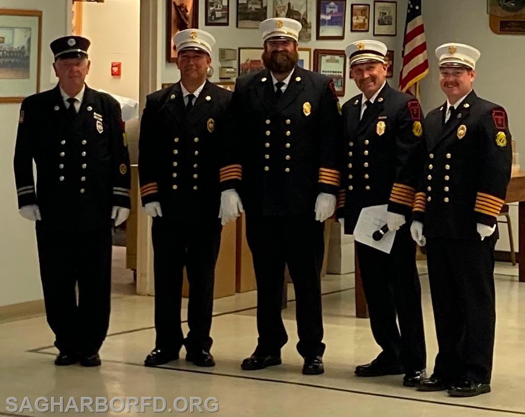45 Years of Service Left to Right: Russel Miller, Michael Guyer, Andrew Blodorn,  Steven Miller, Kevin O'Brien Jr